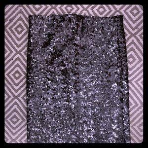Sequin midi skirt graphite gray